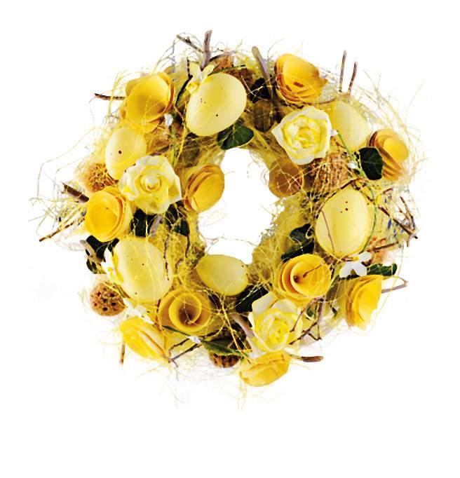 Na Święta Wielkanocne kolekcja świąteczna to tradycyjnie wiosenne: żółcie, zielenie oraz biel.