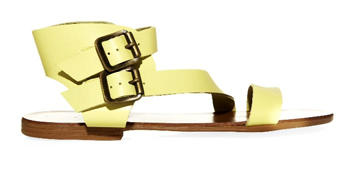 New_Look_Yellow Asymetric Strap Double Buckle Sandals _19.99-006-2014-06-04 _ 12_05_52-80