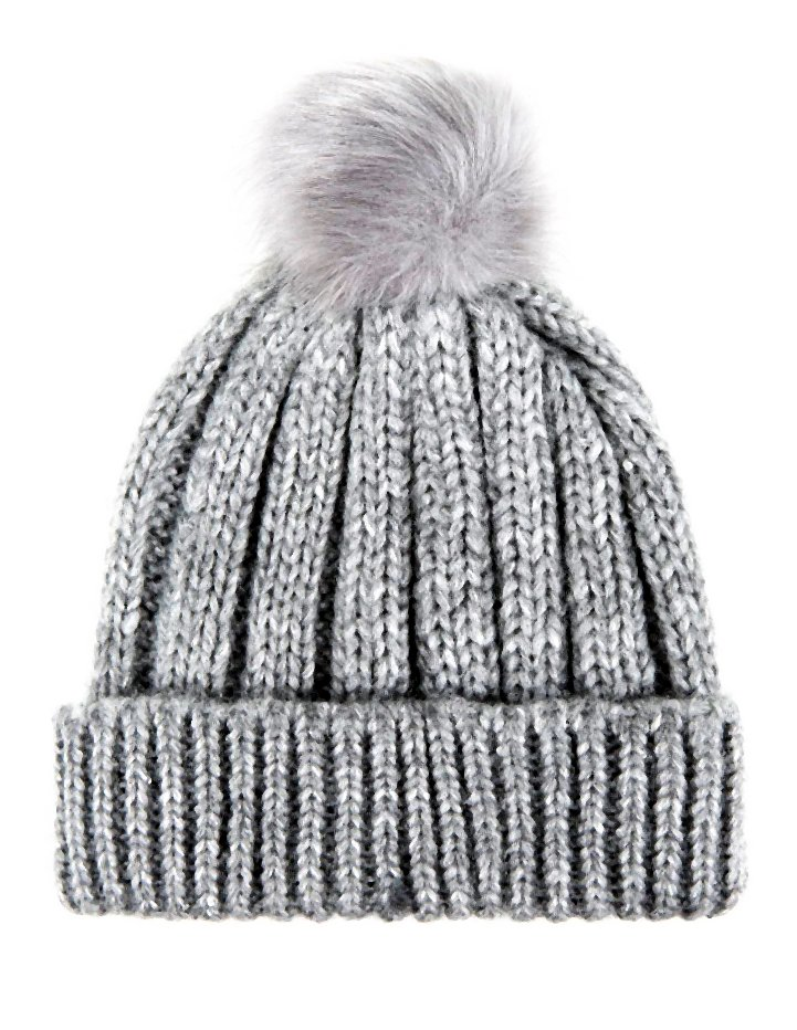 L7.99 Grey Faux Fur Bobble Knit Beannie-011-2014-11-20 _ 12_35_45-80