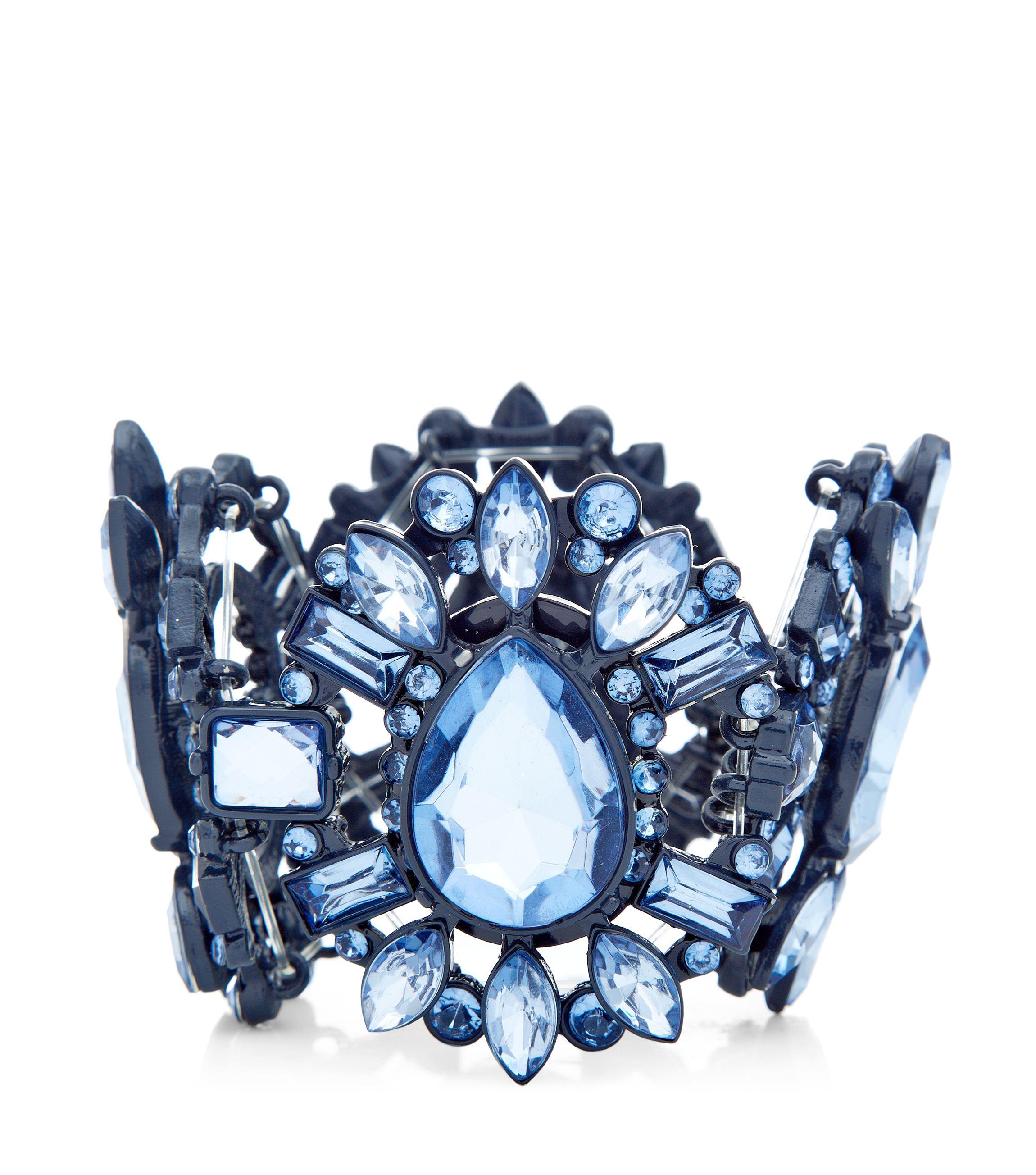 Blue Gem Stretch Bracelet _12.99
