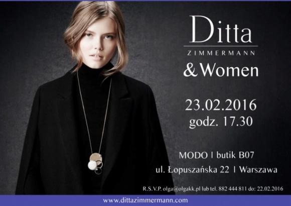 Zaproszenie na kobiece spotkanie Ditta Zimmermann & Women 23.02.2016 r.