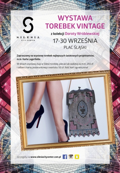 Niezwykła wystawa torebek vintage w Silesia City Center Moda, LIFESTYLE - Od 17 do 30 września w największym centrum handlowym na Śląsku będzie można oglądać prestiżową wystawę torebek vintage z kolekcji Doroty Wróblewskiej.