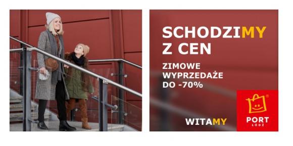 Ruszają zimowe wyprzedaże w Porcie Łódź Moda, LIFESTYLE - W Porcie Łódź ruszają właśnie zimowe wyprzedaże. Klienci znajdą w Centrum bogatą ofertę modową, elektronikę oraz dekoracje do mieszkania, a wszystko tańsze nawet o 70%.