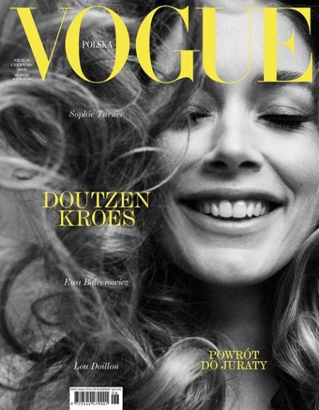 """Doutzen Kroes, Sophie Turner, Ewa Balcerowicz – nowy numer Vogue Polska Moda, LIFESTYLE - Holenderka Doutzen Kroes, piąta na liście najlepiej zarabiających modelek na świecie, aktywistka i aktorka, jest gwiazdą sesji okładkowej czerwcowego wydania """"Vogue Polska""""."""