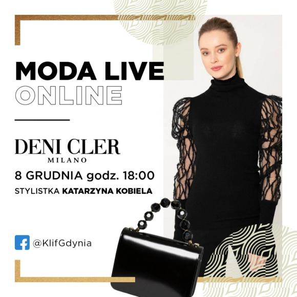 Pokaz stylizacji Deni Cler w gdyńskiej Galerii Klif Moda, LIFESTYLE - We wtorek 8 grudnia odbędzie się kolejne spotkanie w ramach cyklu Moda Live Online organizowanego przez Galerię Klif w Gdyni. Tym razem stylistka Katarzyna Kobiela zaprezentuje zestawy marki Deni Cler.